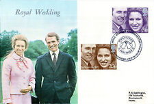 14 NOVEMBER 1973 ROYAL WEDDING WESSEX FIRST DAY COVER SOMERFORD CHIPPENHAM SHS