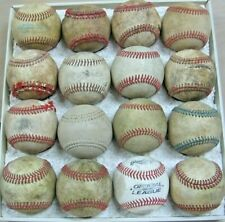 16 Practice Baseballs Leather Covered and Vinyl Poor condition Dog Chews?