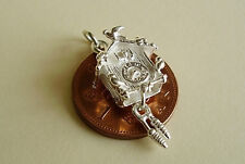 BEAUTIFUL ' CUCKOO CLOCK ' MOVING STERLING SILVER CHARM