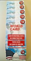 5 Lot of $10 PREPAID CALLING CARDS For INT'L and USA CALLS NO EXPIRATION AT&T