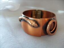 Vintage Whiting and Davis Co. Copper Snake Bangle Hinged Bracelet.