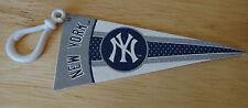 "MLB Baseball NEW YORK YANKEES 4"" Felt Pennant w/ 1.5"" Plastic Clip Souvenir"