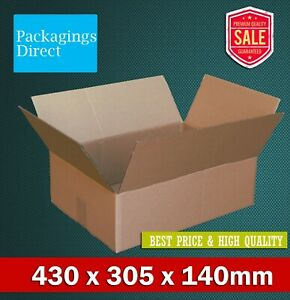 50x Mailing Box 430 x 305 x 140mm A3 Regular Shipping Carton BX4 B4