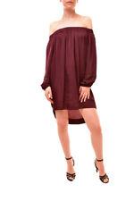 One Teaspoon Women's Off Shoulder Tunic Burgundy Size S RRP $140 BCF85