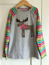 FRUGI Girls Reindeer T-shirt Size 7-8 Years
