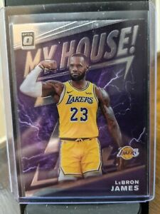 2019-20 Donruss OPTIC LeBRON JAMES MY HOUSE PRIZM Card#13 Lakers