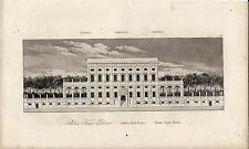 Stampa antica GENOVA Palazzo Doria Tursi municipio 1845 Old antique print