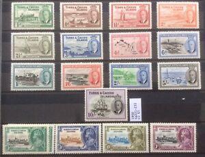 Turks And Caicos Islands. 1935-50 George V,  VI. Coronation Set And Sg221-33mint