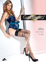 Gabriella Afra 225 Bas sans Maintien XS-L Noir Bas Nylon Nylon 20DEN