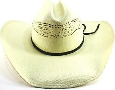 e2b072e94a78a Men Western Cowboy Straw Hat Size 7 1 4 Off-White Genuine Bangora