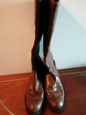 HOS136) Pair of Ladies boots calf length Markon size 6.5 tan brown