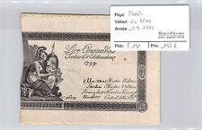 Italy 50 Liras 1.9.1799 N°116778 Pick S 131
