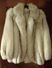 Fluffy fox fur coat