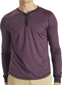 Ohmme Dawn Long Sleeve Mens Yoga Top Purple Eco-Friendly Recycled Polyester Yarn