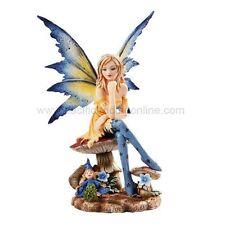 "Sitting Magician Faery Fairy Statue Amy Brown Design Fantasy 6"" Tall Figurine"