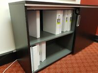 Office Furniture: Black Filing Cupboard - Good Condition