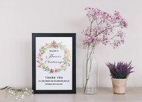 Personalised Christening Baptism Welcome Poster Sign Naming Ceremony Communion