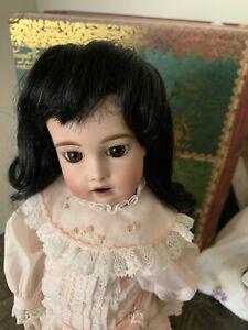 "Human Hair Doll Wig, Long fine, HELEN 7-8""  Black GLOBAL, clearance priced!"