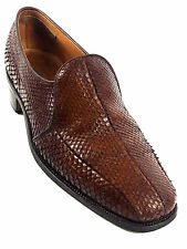 Tricker's Men's Made In England Brown Snake Skin Loafers Shoes UK.10