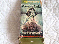 ZOMBIE LAKE VHS WIZARD VIDEO BIG BOX NAZI HORROR JESS FRANCO FEMALE NUDITY CULT