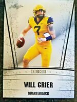 WILL GRIER 2019 LEAF SILVER EDITION ROOKIE CARD! WEST VIRGINIA/CAROLINA PANTHERS