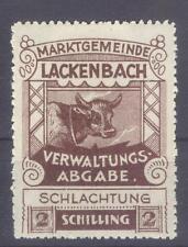 Austria local revenue Lackenbach MH cow Gebührenmarke