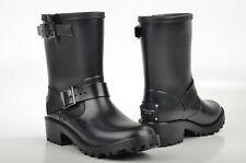 Michael KORS Women's Black Short Rubber Rain Boots Shoes 8 New
