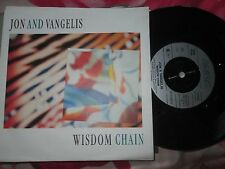 Jon & Vangelis Wisdom Chain  Arista ‎114 063 UK Vinyl 7inch 45 Single
