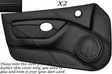 BLACK STITCH 2X FULL DOOR CARD TRIM LEATHER SKIN COVERS FITS MG MGTF MK2 00-06