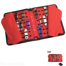 United Cutlery Pocket Knife Storage Case Bag Large 40 Knives Holder Zipper Red
