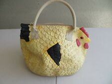 The Hen Rubber Chicken Purse Tote Clutch Handbag Chiq Urban Farming