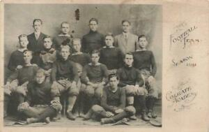 COLGATE ACADEMY 1914 Postcard FOOTBALL TEAM Hamilton New York NY