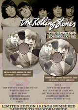 """THE ROLLING STONES THE SESSIONS Volume 3 10"""" limited edition clear RARE VINYL"""