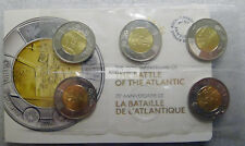 2016 Canada Battle of The Atlantic 75th Anniversary $2 Dollar Toonie 5-Coin Pack