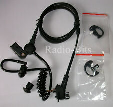 MOTOROLA MTH MTP Police BLACK Acoustic Tube Earpiece + TWO  Black Ear Moulds