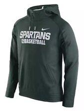 Nike Men's Michigan State Spartans Basketball Elite Hoodie Sweatshirt XL NCAA