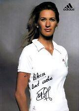 Steffi Graf signed 8x11 adidas publicity photo / autograph