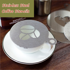6Pcs/set Stainless Steel Coffee Art Stencils Latte Cappuccino Cafe Barista