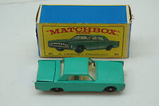 VINTAGE MATCHBOX CAR LINCOLN CONTINENTAL NO 31 LESNEY ENGLAND TOY ORIGINAL BOX