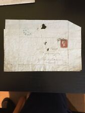 GB Cover 1846 Stamp Leicester To Huntingdon Penny Red