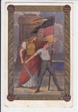 AK Patriotika, Das Eisen bricht die Not! 1914
