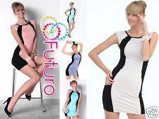 Ladies 2 Coloured Bodycon Sleeveless Tunic Boat Neck Shift Dress Sizes 8-18 8496