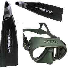 RO1 CRESSI SUB pinne apnea pesca IL MITO GARA 2000 HF    + maschera Calibro