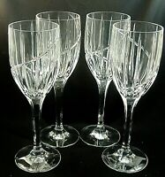 """UPTOWN by Mikasa Crystal Water Goblets Glasses 9"""" tall - Set of 4"""