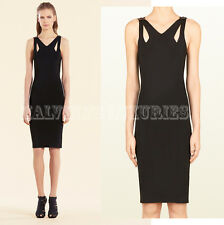 $1,500 GUCCI DRESS BLACK STRETCH CUTOUT DETAIL WITH BAMBOO sz L / LARGE
