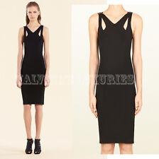 $1,500 GUCCI DRESS BLACK STRETCH CUTOUT DETAIL WITH BAMBOO sz M / Medium