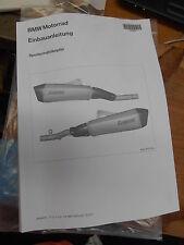 BMW 10-12 K1600GT GTS Sport Muffler Installation Instructions Manual 77018529114