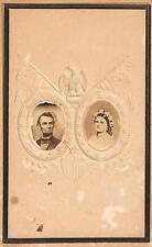 "Abraham Lincoln & Mary Ann Todd Lincoln Original 2.5 x 4"" Photograph"
