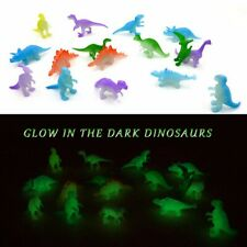 3D Glow in the Dark Dinosaurs Luminous Party Bag Filler Toy Decor Assorted