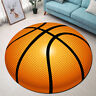 Round Floor Mat Kids Bedroom Living Room Area Rugs Dot Design Basketball Pattern